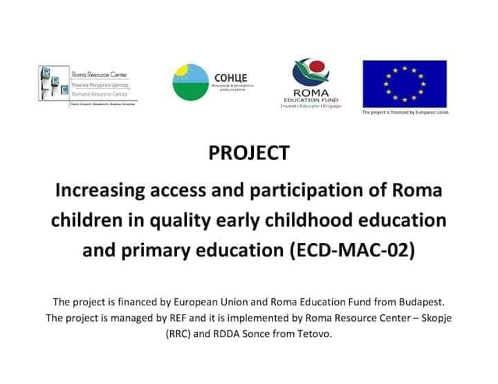Increasing Access and Participation of Roma Children in Quality Early Childhood Education and Primary Education